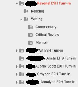 Student Writing Folders