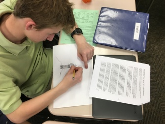 Sketching during first draft reading