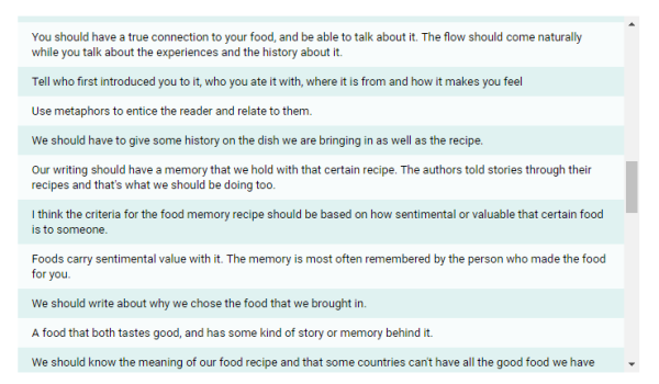 The Food Memory Narrative – moving writers