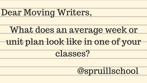 Dear Moving Writers,