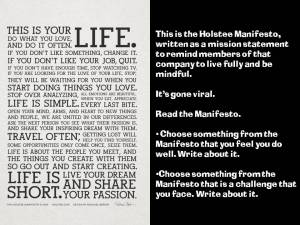 The Holstee Manifesto prompt
