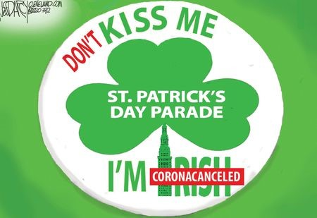 2020 St. Patrick's Day Parade Button