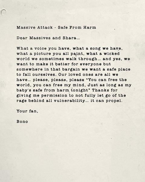 Bono Massive Attack